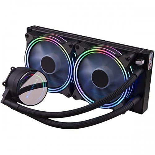 GOLDEN FIELD SF240 RGB All-in-One Liquid CPU Cooler With 240mm Radiator Water Cooling Cooler System For Intel AMD Socket CPU Cooling