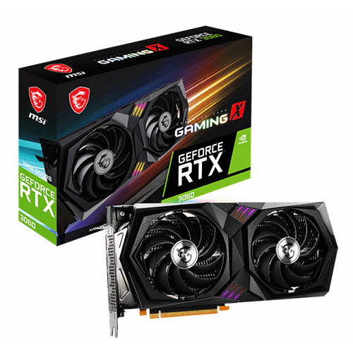 MSI GEFORCE RTX 3060 GAMING X 12GB GDDR6 GRAPHICS CARD - (NOT SOLD SEPARATELY)